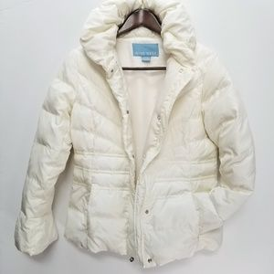 Nine West down quilted coat Sz S